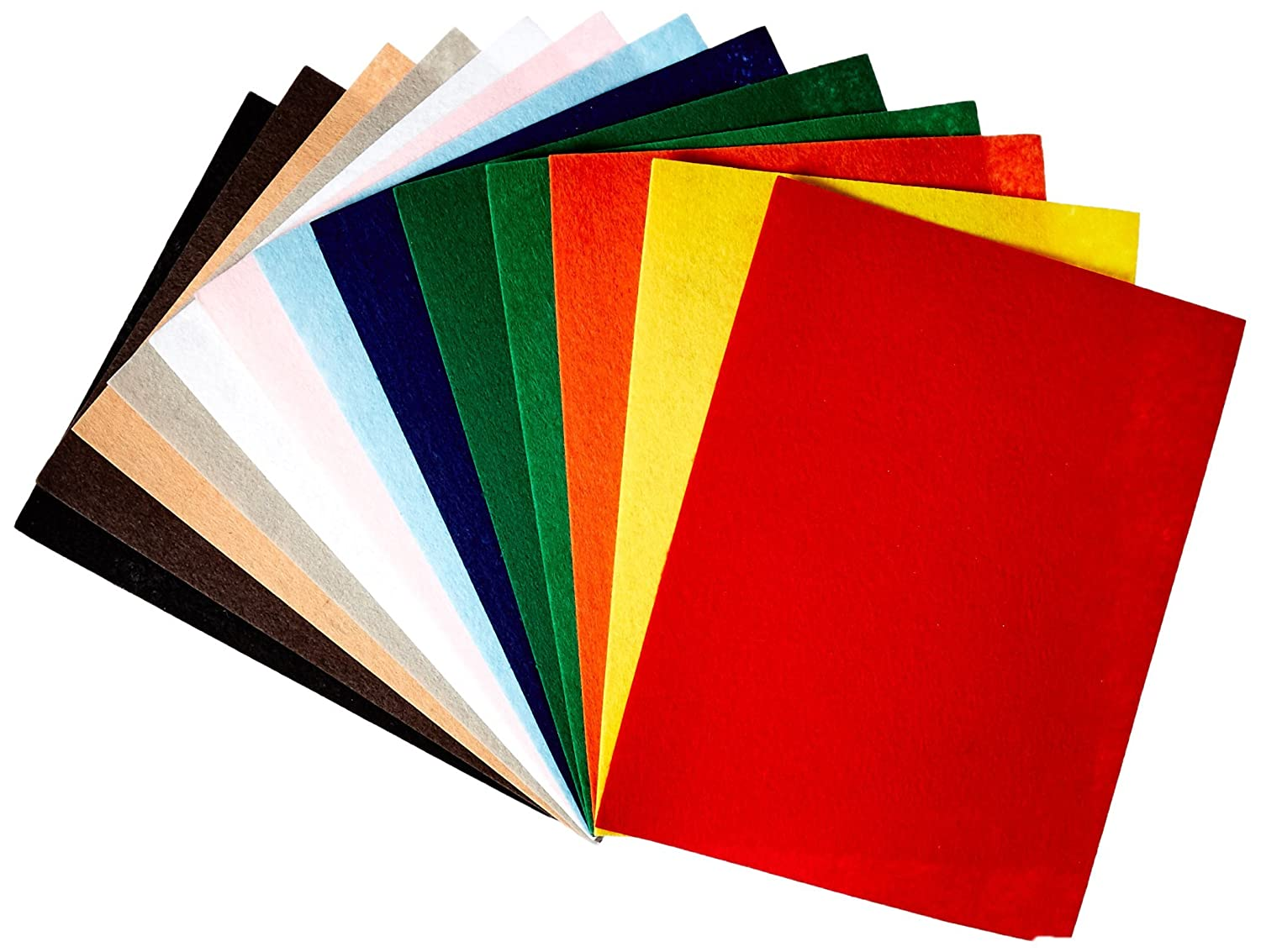 Assorted Color CPE 1368378 EZ Stiffened Felt 9 x 12 Size
