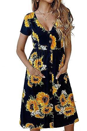 c5730f3d2a saishun European and American Women s Clothing Manufacturers Ebay Explosion  Models Summer Boho Print Button V-