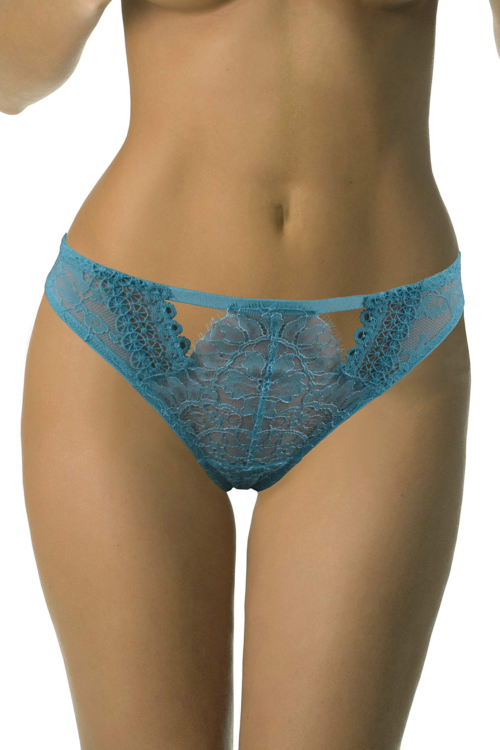 Victorias Secret Sexy Blue Lace & Mesh Cheekini Small by V. Secret