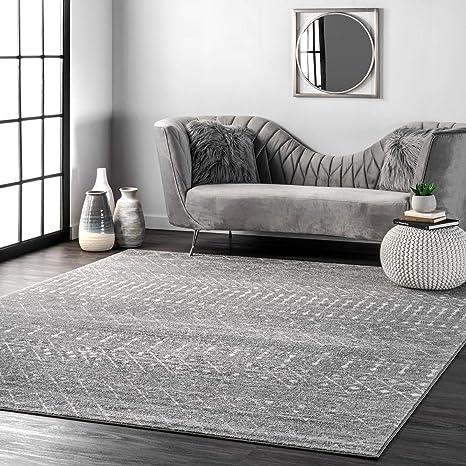 Nuloom Moroccan Blythe Area Rug 8 X 10 Dark Grey Furniture Decor