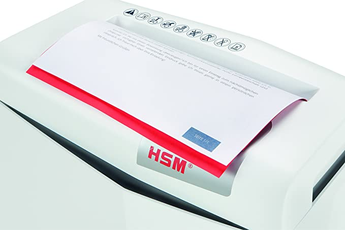 HSM Shredstar S5 - Destructora de documentos, 6 mm, color blanco plata