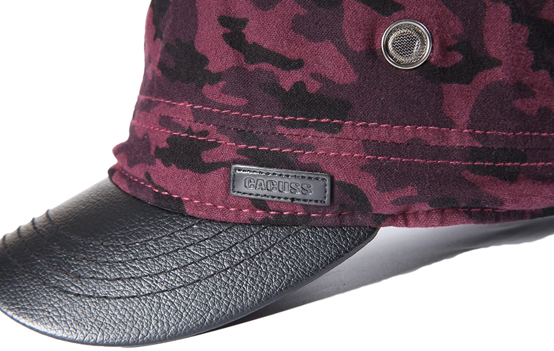CACUSS Mens Cotton Army Cap Cadet Hat Military Flat Top Adjustable Baseball  Cap P0059 Beige c620171bc155