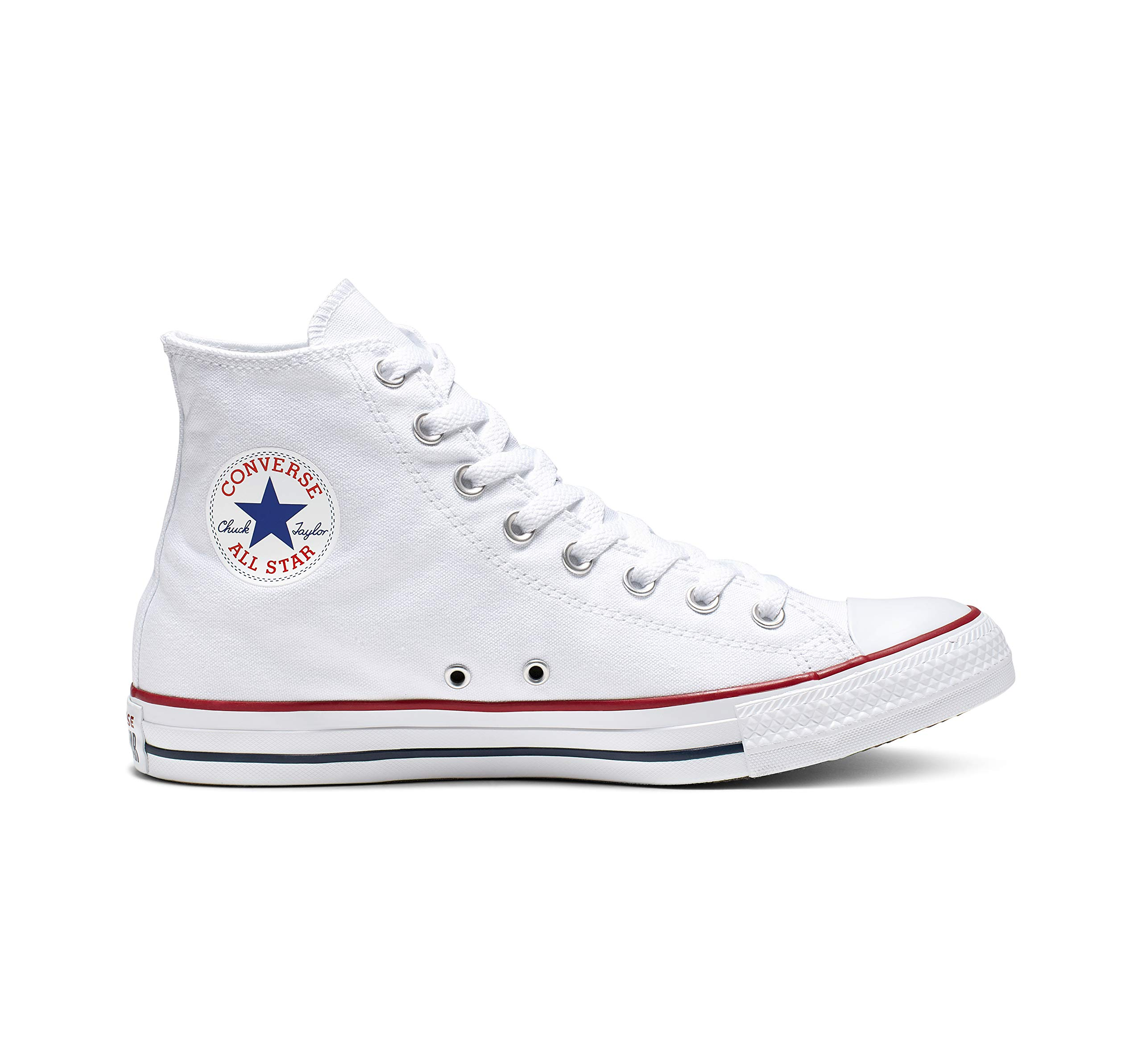Chuck Taylor All Star Canvas High Top, Optical White, 11 by Converse