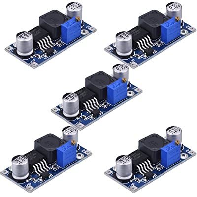 5 Pack Boost Converter Module XL6009 DC to DC 3.0-30 V to 5-35 V Output Voltage Adjustable Step-up Circuit Board (5 Pack): Electronics
