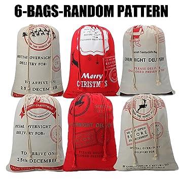 Amazon.com: Christmas Gift Bag Santa Present Bag for Kids Present ...