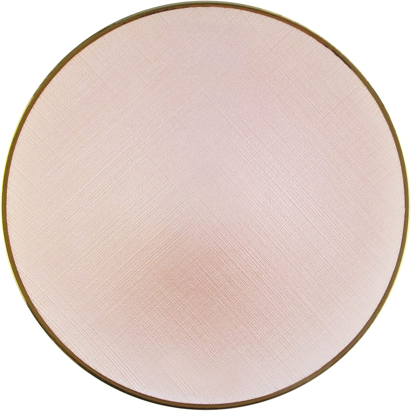 Koyal Wholesale 13 Matte Blush Pink Beaded Scallop Charger Plates Tabletop Bulk Set of 4 Acrylic Plastic Charger Plates Tablescape for Wedding Holidays Antique Finish Table Setting Events