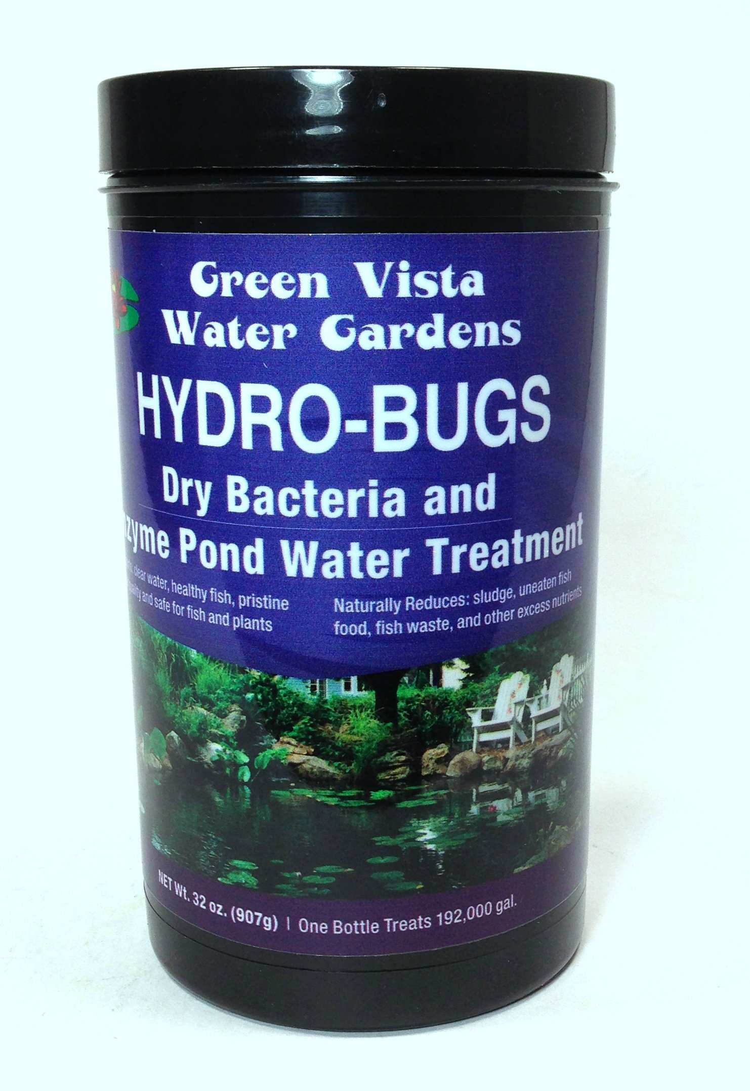 Green Vista Hydro-Bugs Dry Beneficial Bacteria - 32 Ounces - Pond Algae Control - Probiotic Treatment - Reduces Sludge, Fish Waste, Uneaten Food - Improves Water Quality and Clarity - Koi, Plant Safe
