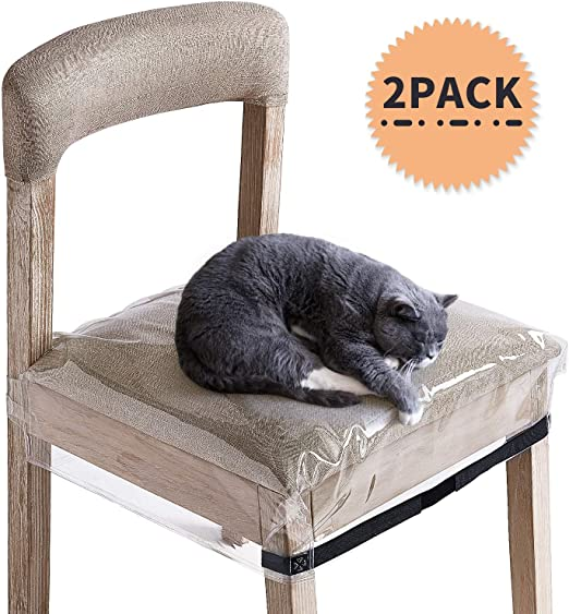 SIWUTIAO Plastic Dining Chair Covers, Clear PVC Waterproof Protector for  Dining Room Chair, 2 Pack with Adjustable Belt Strap and Fit Most 18-21  inch ...