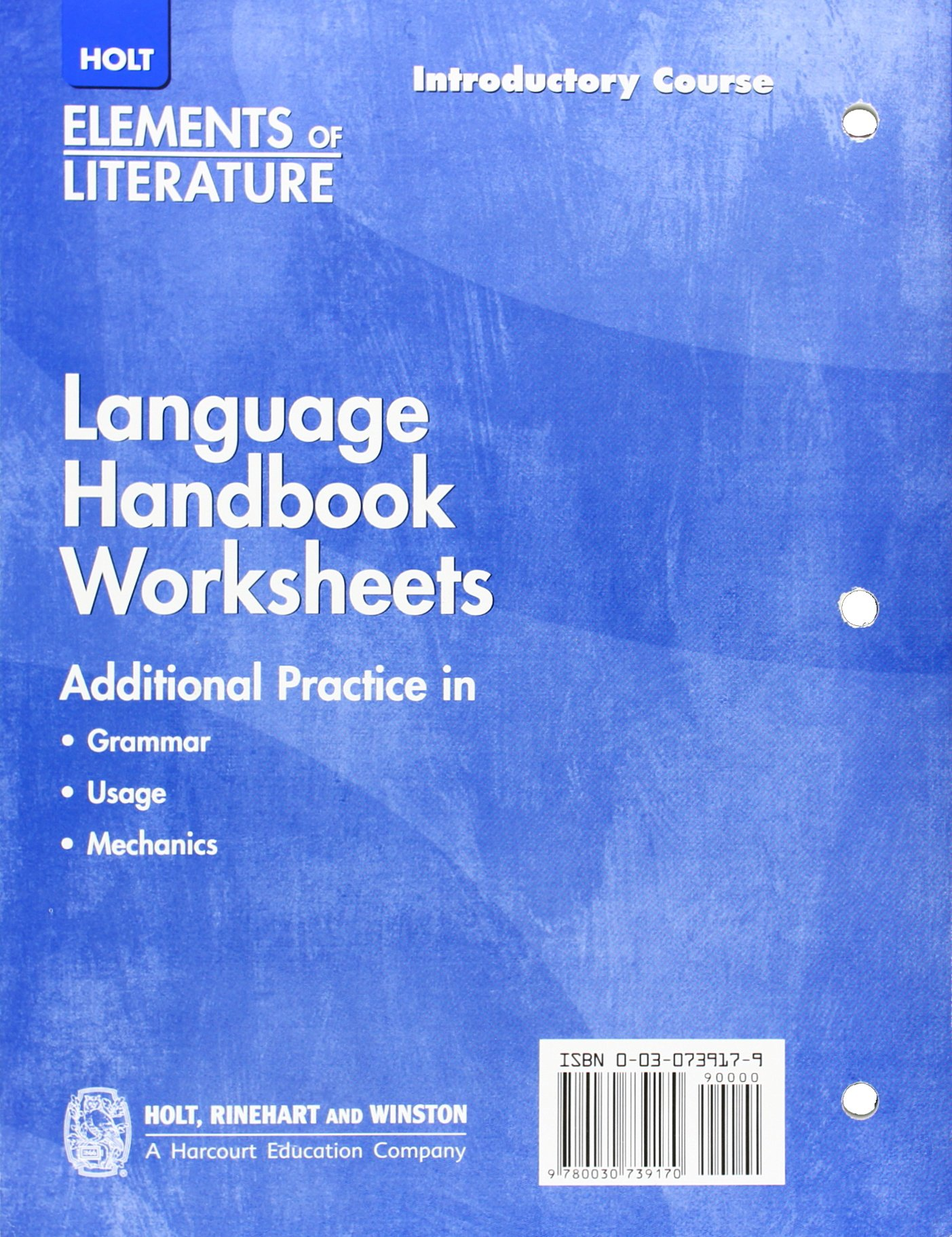 Free Worksheet Language Handbook Worksheets Answer Key Online holt elements of literature language handbook worksheets introductory course grade 6 rinehart and winston 9780030739170 amazon