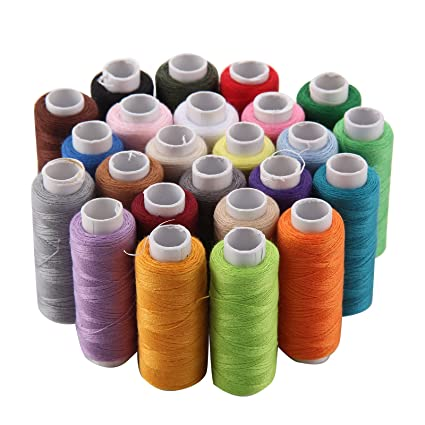 Finest quality 100/% cotton thread reel 24 different colour sewing machine spools