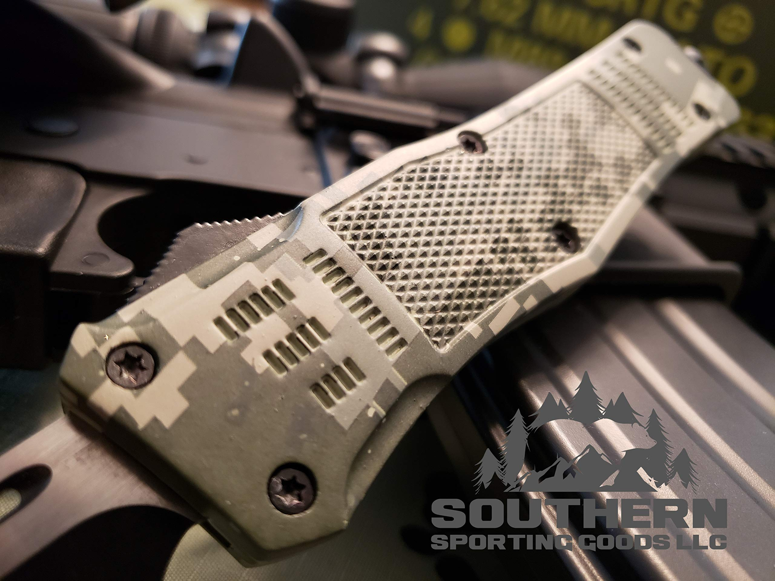 Venom 3TR Assisted Tactical Combat Knife (Tanto Partial Serrated) by Venom Knives (Image #4)