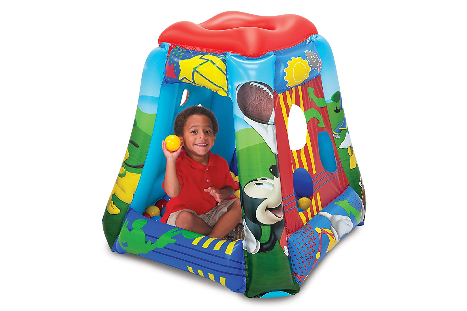 Inflatable Mickey Mouse Ball Pit Play House Unisex Toddlers Kids Portable Tent  sc 1 st  eBay & Inflatable Mickey Mouse Ball Pit Play House Unisex Toddlers Kids ...