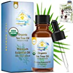 Organic Tea Tree Essential Oil, 100% Pure USDA Organic Therapeutic Grade