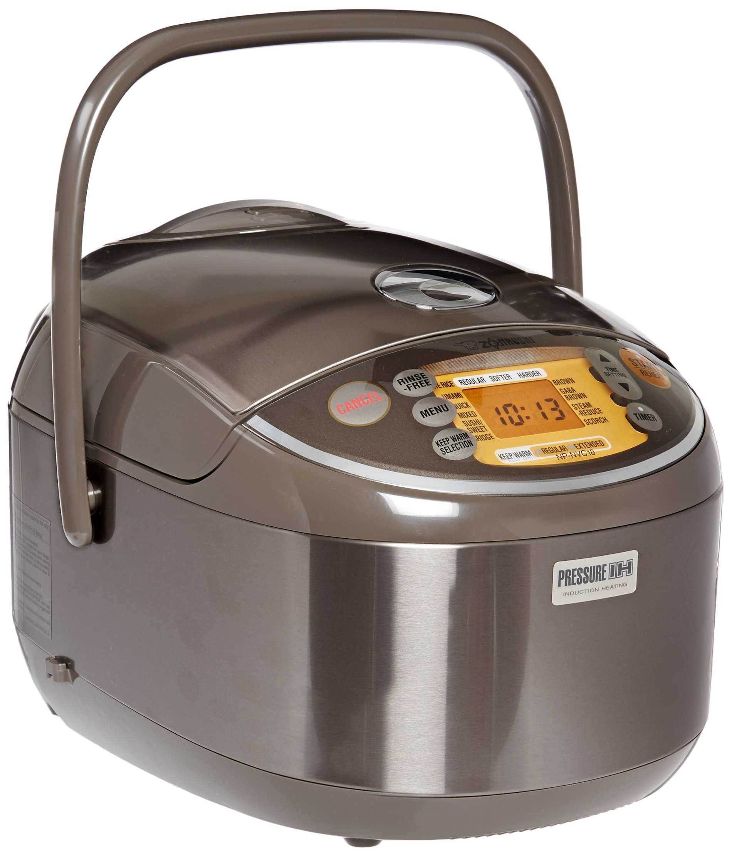 Zojirushi Induction Heating Pressure Rice Cooker & Warmer 1.8 Liter, Stainless Brown NP-NVC18 by Zojirushi (Image #1)