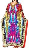 La Leela Women's Nightgown Caftan Plus Size HD Designer Drawstring Dress L-4X Plus Size Lounge Wear