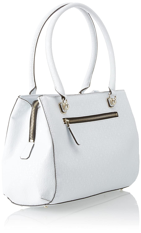 Guess Damen Bags Hobo Umhängetasche, Mehrfarbig (White Multi