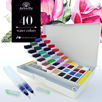 Art-n-Fly 40 Colors Watercolor Paint