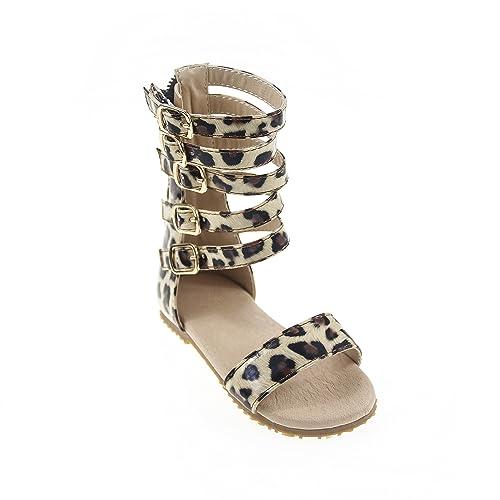 79fa66ed7c74 D.LIN Fashion Infant Toddler Kid Gladiator Sandals Girls Summer Knee High  Boots