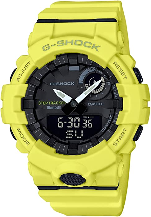 G-Shock By Casio Mens Analog-Digital GBA800-9A Bluetooth Watch Lime Green