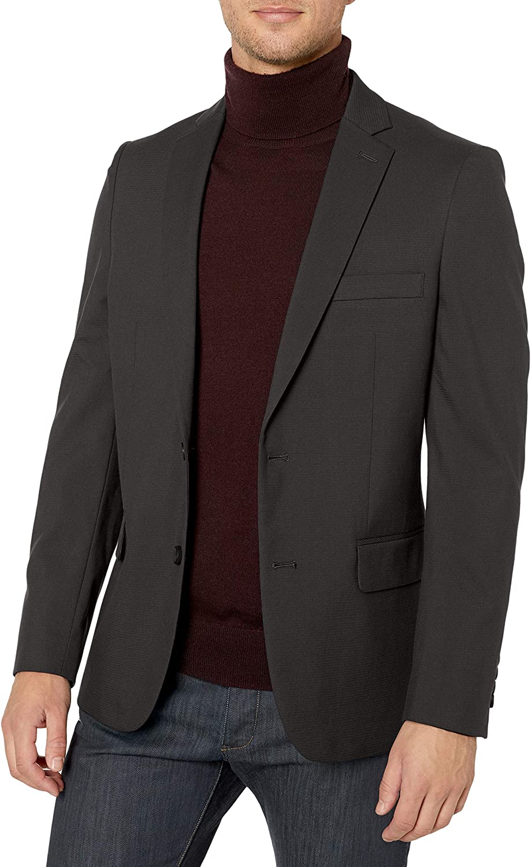 J.M. Haggar Men's Premium Check Slim Fit Suit Separate Coat