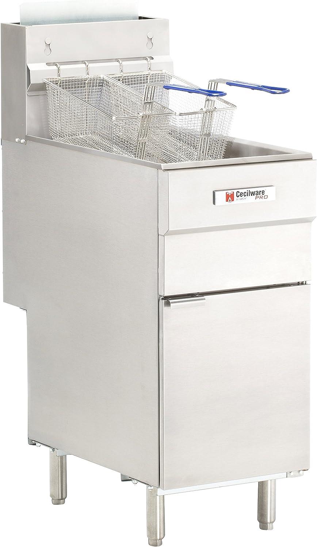 Grindmaster-Cecilware FMS504NAT Natural Gas Floor Fryer, 50-Pound