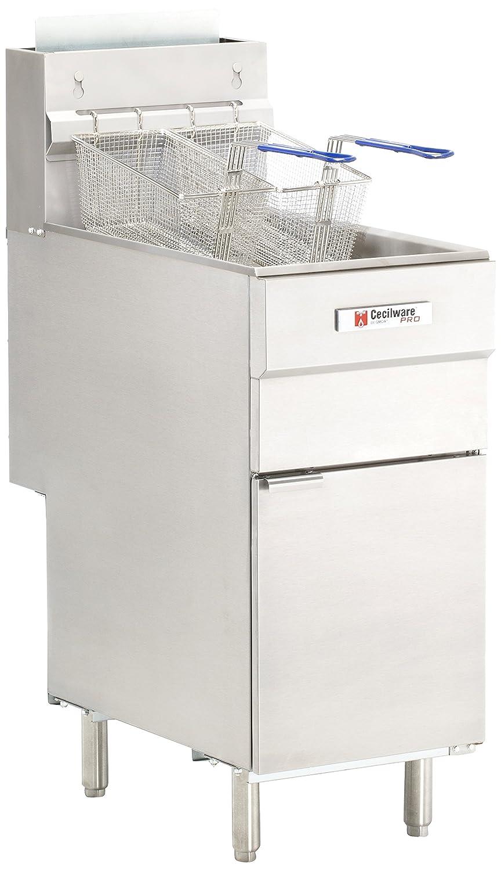Grindmaster-Cecilware FMS403LP Liquid Propane Gas Floor Fryer, 40-Pound