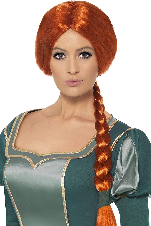 Wig Ogre Womens Ladies Fancy Dress Outfit Shrek Princess Fiona Costume