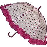 Parapluie à Pois et Froufrou - Rose - Automatique