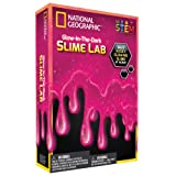 NATIONAL GEOGRAPHIC Slime DIY Science Lab – Make Glowing Slime (Pink)
