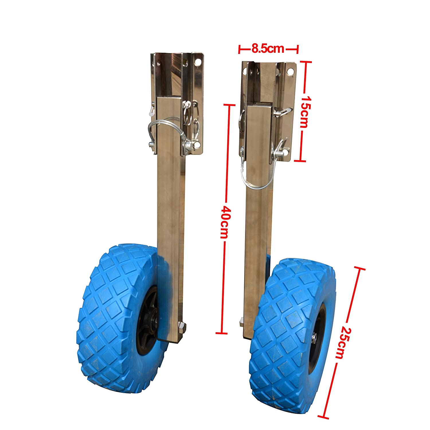 Stainless Steel Boat Transom Launching Wheels Dolly For Inflatable boat Bris boat