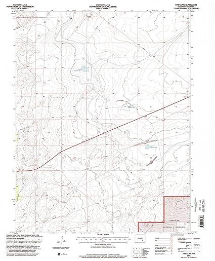 Nw Colorado Map.Amazon Com Yellowmaps Timpas Nw Co Topo Map 1 24000 Scale 7 5 X