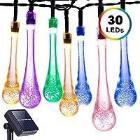 DecorNova Solar Raindrop 20-Foot 30-LED String Lights