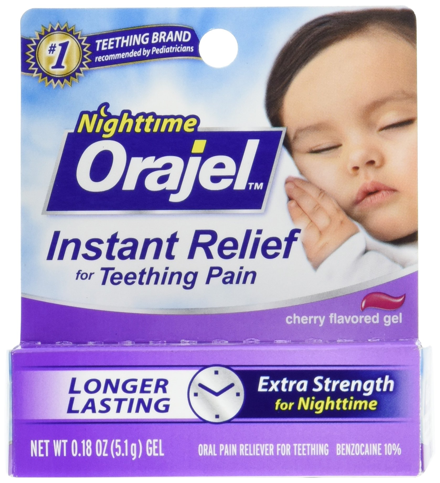 Orajel Teething Nightime Formula, 0.18 Oz