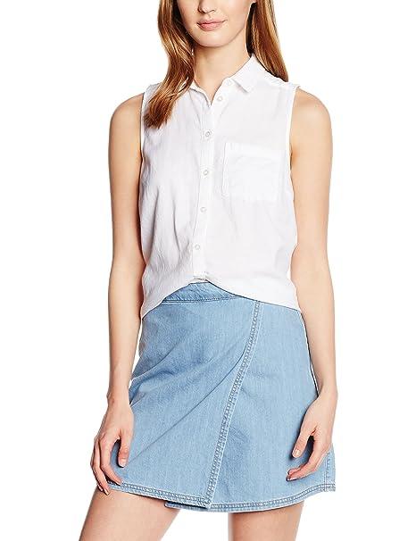 New Look Twill, Blusa para Mujer, Blanco (White), 42