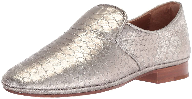 Silver Frye Womens Ashley Slip on Loafer Flat