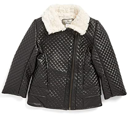 b58730a54 Amazon.com  Widgeon American Quilted Faux Leather and Fur Collar ...