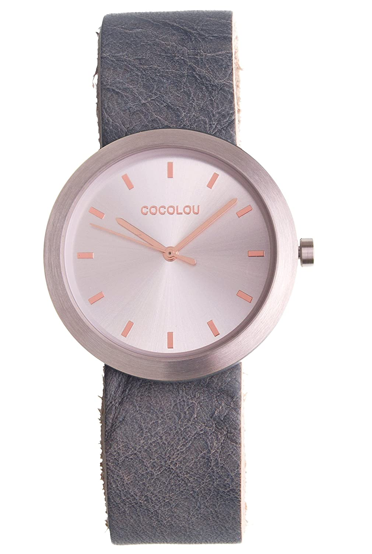 COCOLOU Damenuhr - Uhr - wechselbares Lederarmband - Leder Kairo