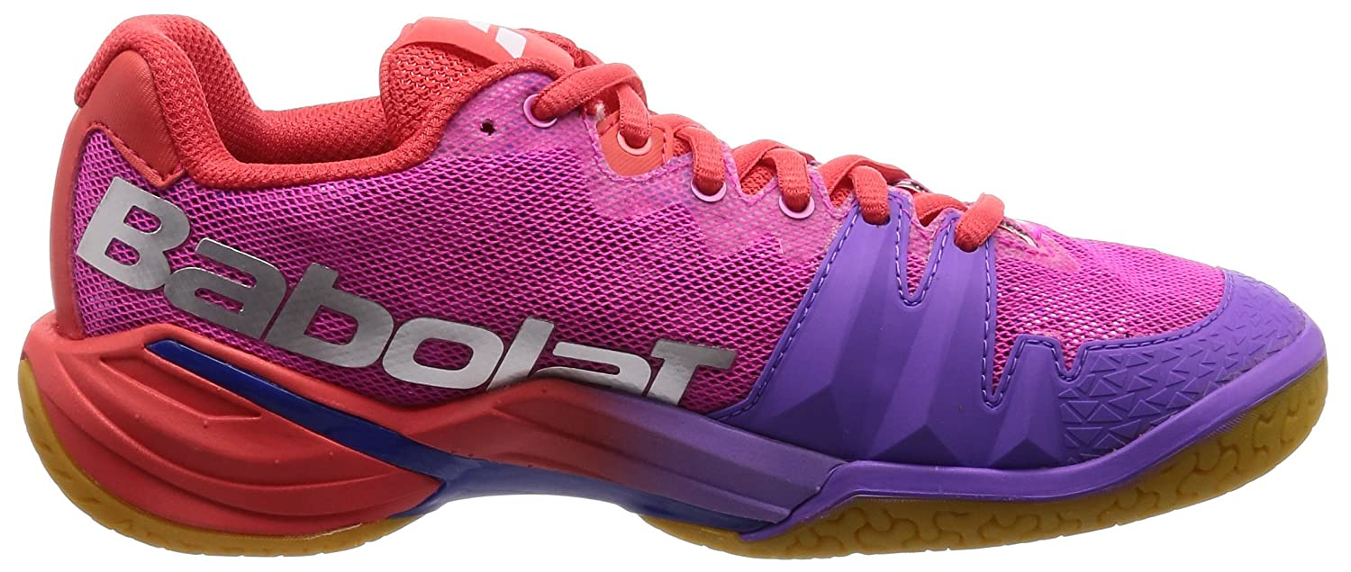 Details about  /Babolat Shadow Tour Womens Indoor Court Shoe Red//Pink//Violet Auth Dealer