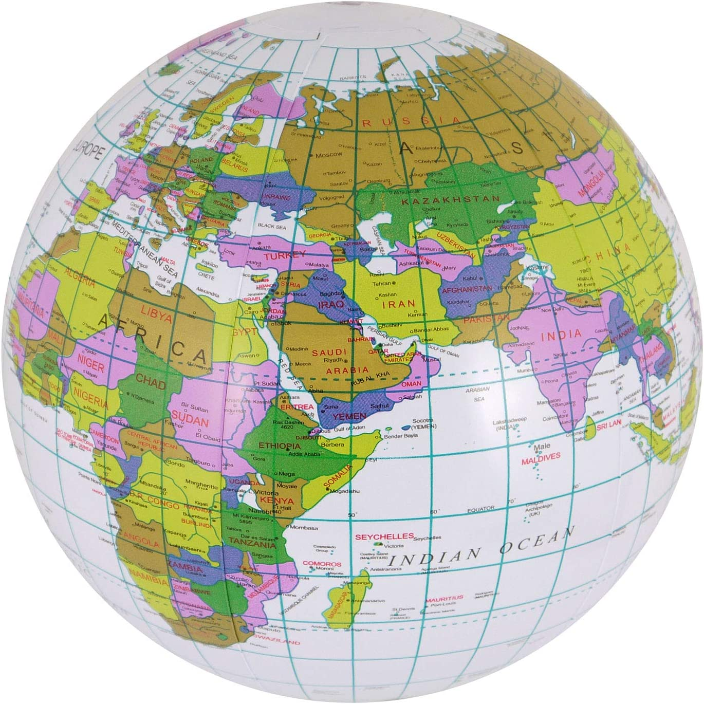 Labreeze Globo Inflable Globo Mapa Bola Mundo Tierra geografía ...