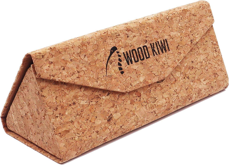 Wood Kiwi Naturkork Etui f/ür Brillen