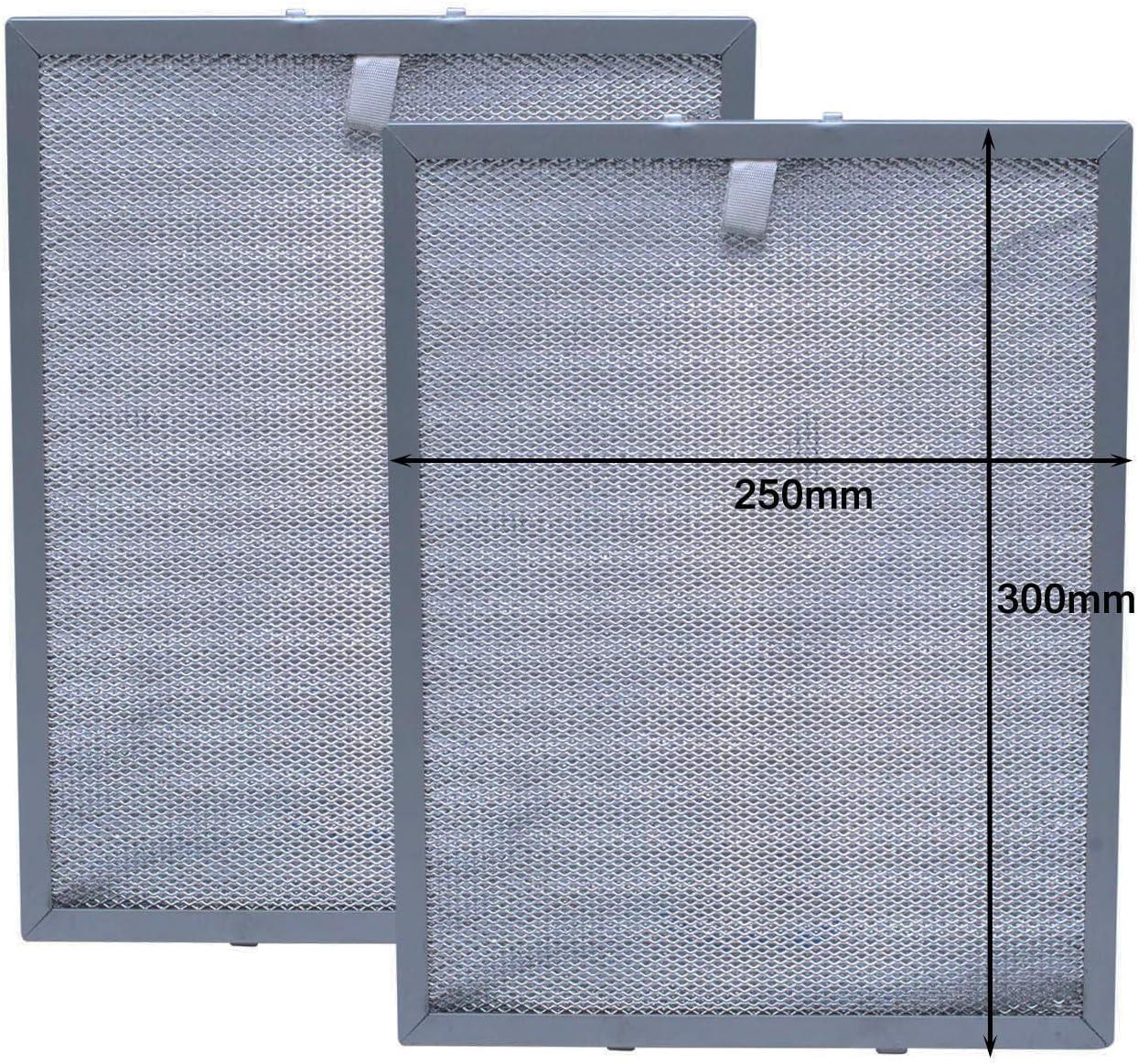 Filtro de Grasa de Malla de Metal para Campana Extractora de Cocina por Poweka (300 x 250 mm,2piezas)