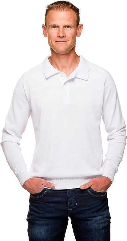 Ugholin - Jersey Clásico Cuello Polo Algodón Mercerizado para ...