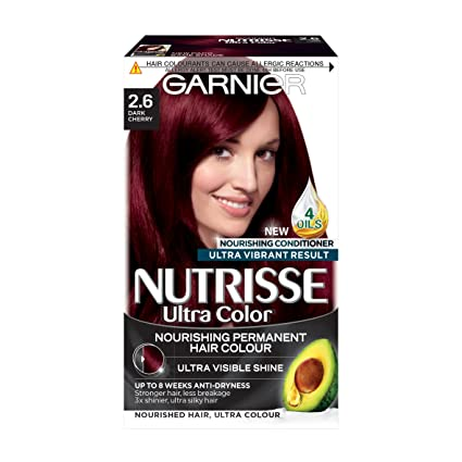 Garnier Nutrisse 2.6 Tintura permanente per capelli rosso scuro ciliegia   Amazon.it  Bellezza be1dce2fa7c0