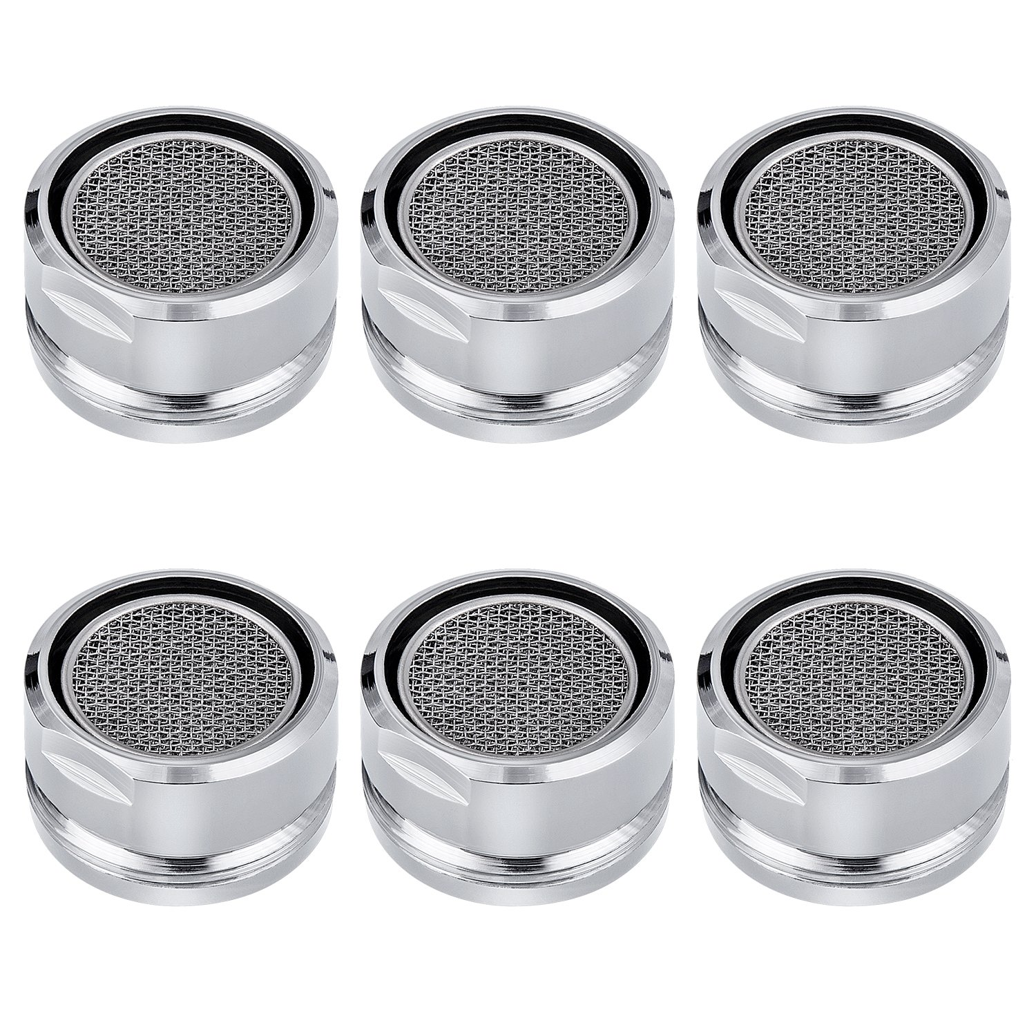 6PCS Faucet Aerators, Male Threaded Brass Aerator With Faucet Replacement Part for Bathroom Kitchen Awpeye
