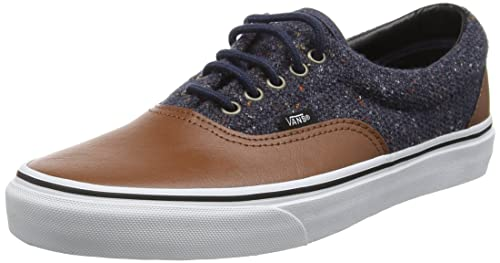a8578ef56f0c39 Vans Unisex Era Lace-Up Low-top Sneakers Brown (Wool   Leather parisian