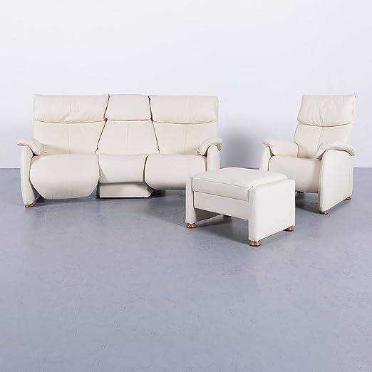 Himolla Designer Trapez Sofa Garnitur Creme Beige Dreisitzer ...