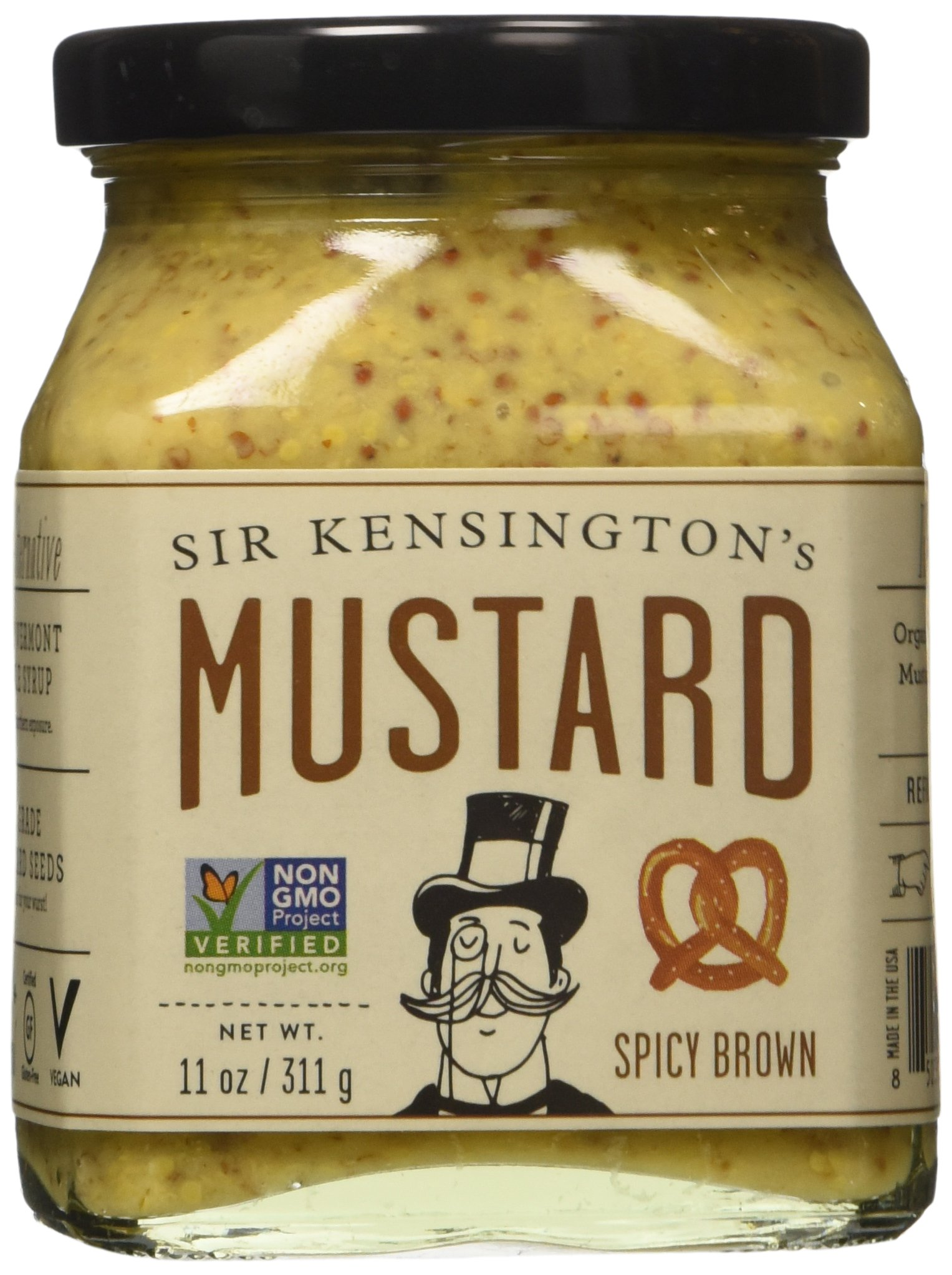Sir Kensington's Mustard - Spicy Brown - 11 OZ