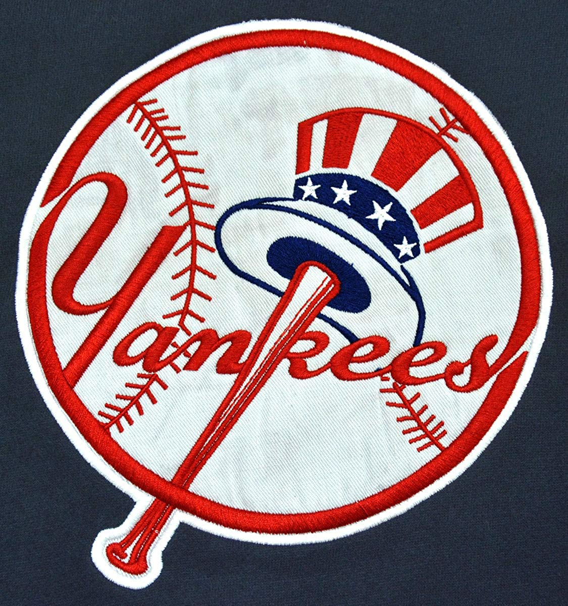 AFSJEEP Mens Yankees Embroidery Heavy Soft Sweatshirt Hoodie