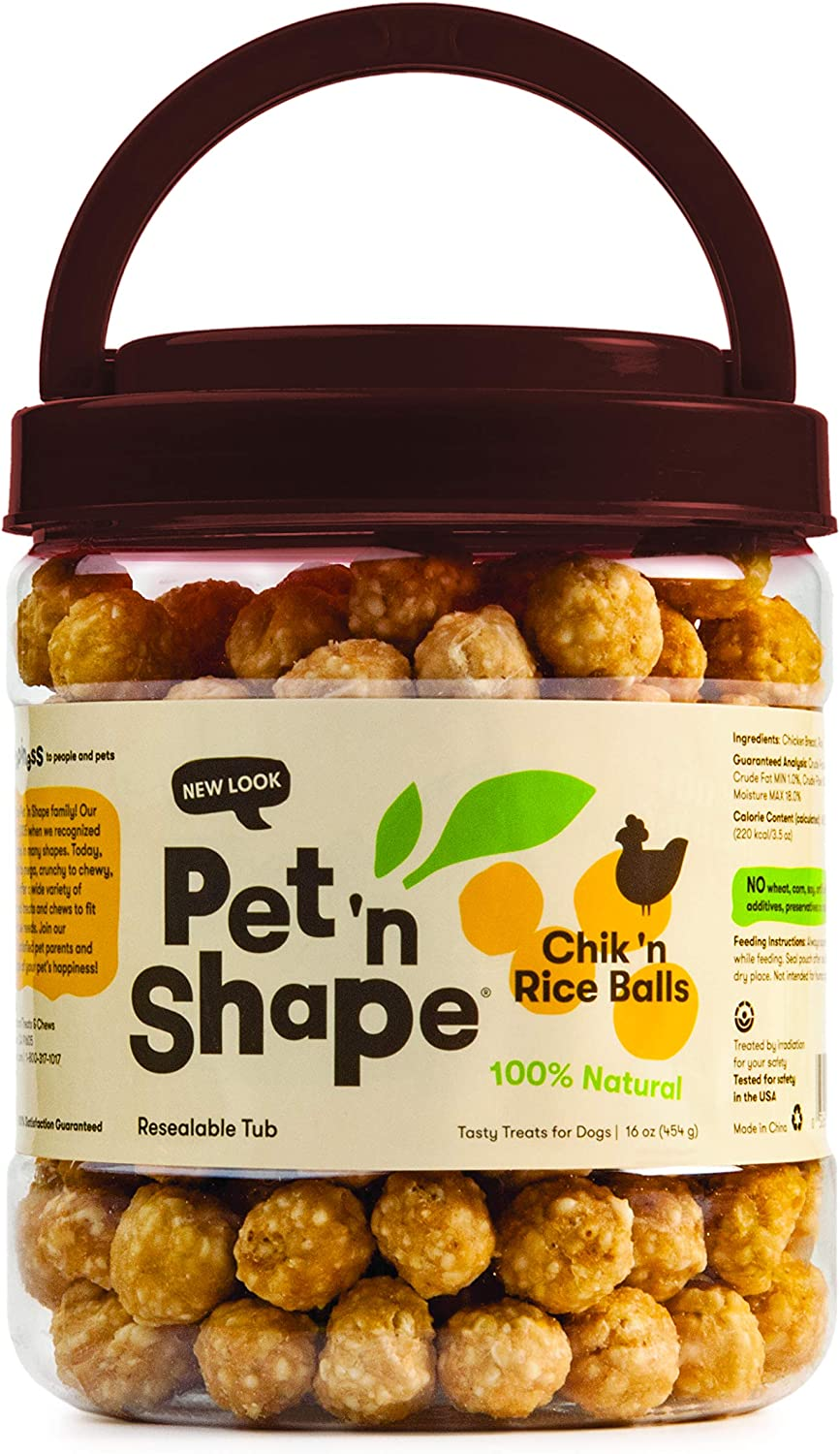Pet N Shape Chik N Rice Balls Natural Dog Treats