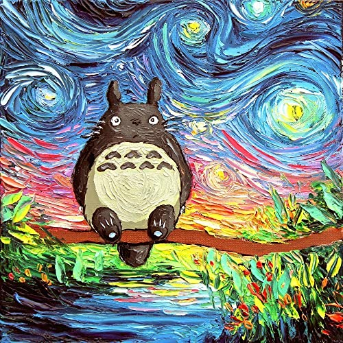 Amazon.com: My Neighbor Totoro Art - Starry Night - Kids Decor ...